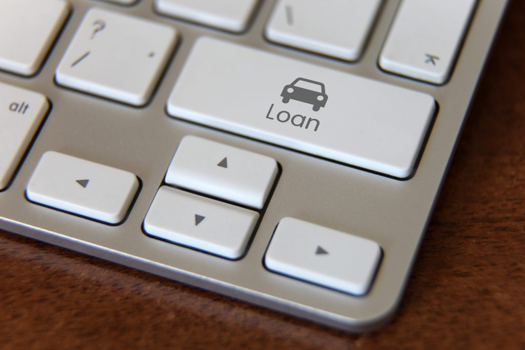 car loan keyboard button